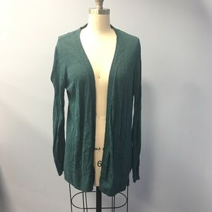 Lou & Grey dark green see through cardigan large